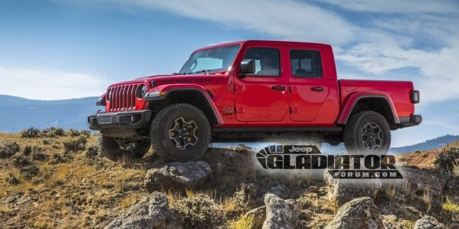 Раскрыта внешность нового пикапа Jeep