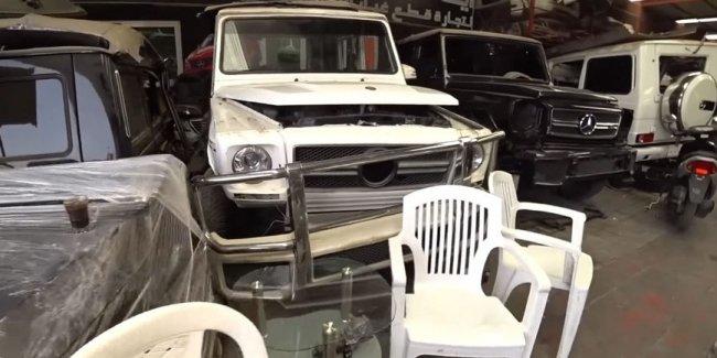 Обнаружена свалка внедорожников Mercedes и Range Rover