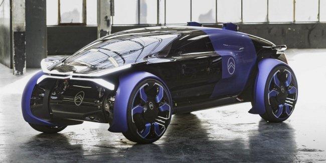 Citroen отметил свое столетие электрокаром с кузовом в стиле вертолетной кабины