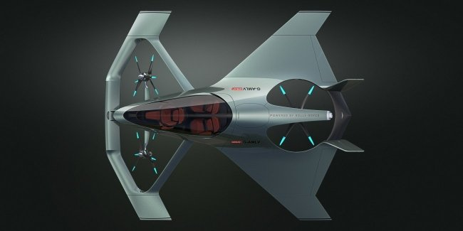 Компания Porsche представила концепцию электрического аэромобиля
