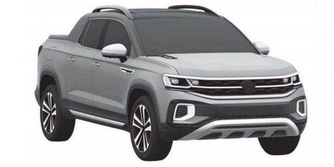 Volkswagen завел патент дизайна пикапа на основе Tiguan