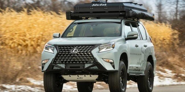 Lexus выпустил «приключенческий» GX с палаткой на крыше
