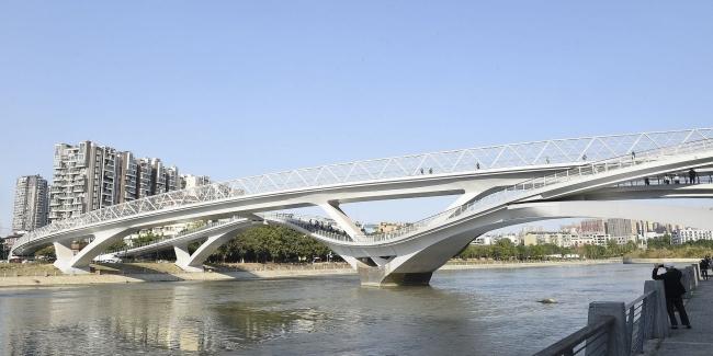 Самый необычный мост открыли в Китае (видео)