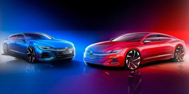 VW продемонстрировал первый тизер обновленного Arteon