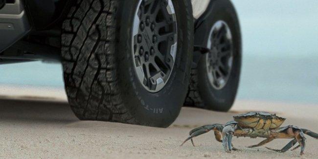 Как работает «режим краба» в новом Hummer?