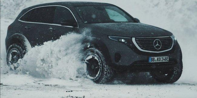 Электрический Mercedes EQC отправили в горы