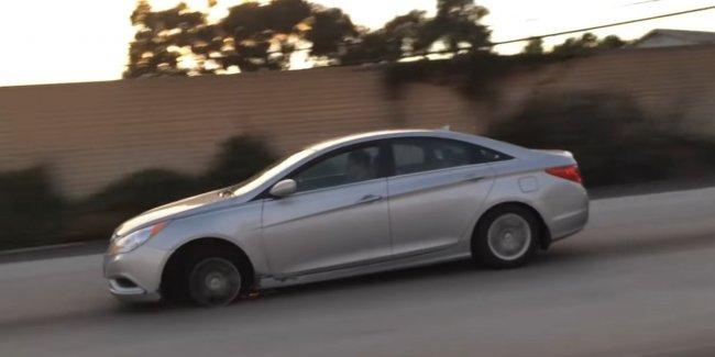 Нет запаски? Не беда! Мастер класс от водителя Hyundai Sonata (видео)