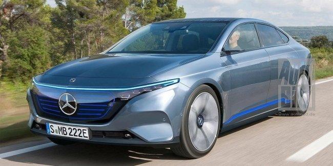 Mercedes выкатил на трек новый электрокар EQE