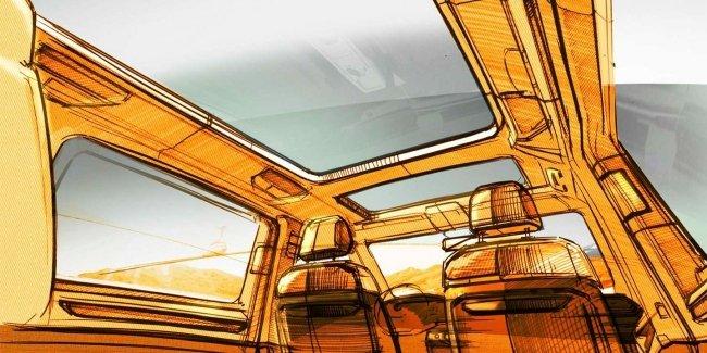 Volkswagen показал крышу и кресла нового Multivan