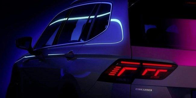 Volkswagen анонсировал дебют обновленного Tiguan Allspace 2022 года на 12 мая