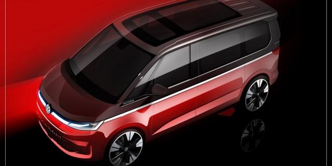VW продолжает дразниться новым Multivan