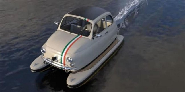 Fiat 500 превратили в лодку