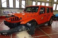 Jeep Wrangler и Fiat Panda продемонстрировали плохую защиту при лобовых ударах
