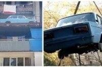 «Жигули» без пробега впервые за 27 лет спустили с балкона