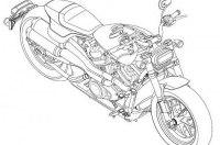 Патентные изображения Harley-Davidson Streetfighter, Custom 1250, Pan America 1250
