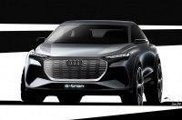 Audi опубликовала первые изображения нового электрического кроссовера Q4 e-tron