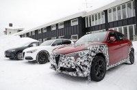 В Сеть «слили» фото трех экземпляров кроссовера Alfa Romeo Stelvio