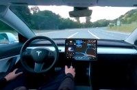 Tesla показала как работает система автономного вождения 5 уровня