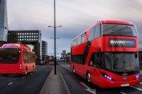 В Лондоне вышли на маршрут первые 5 электрических двухэтажных автобусов BYD