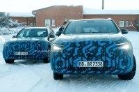 На тестах замечены новые электро-кроссоверы Mercedes EQA и EQB