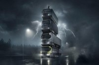 Volvo выстроила башню из 4 новых грузовиков