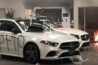 Беспорядки в США: под раздачу попал салон Mercedes-Benz (видео)
