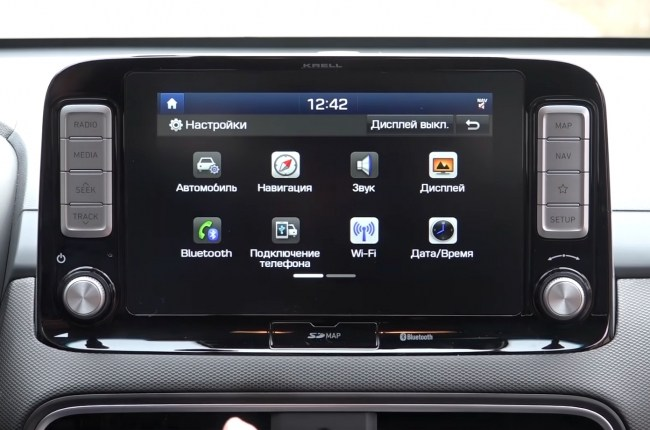 Hyundai Kona Electric мультимедийная система