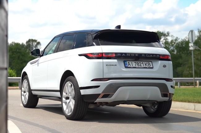 Land Rover Range Rover Evoque вид сзади