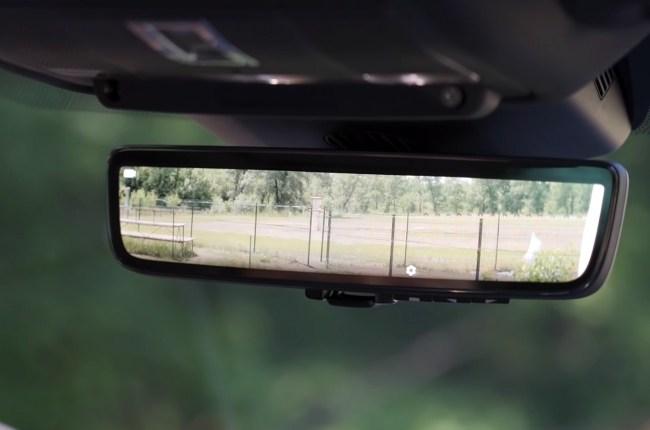 Land Rover Range Rover Evoque камера в зеркале заднего вида