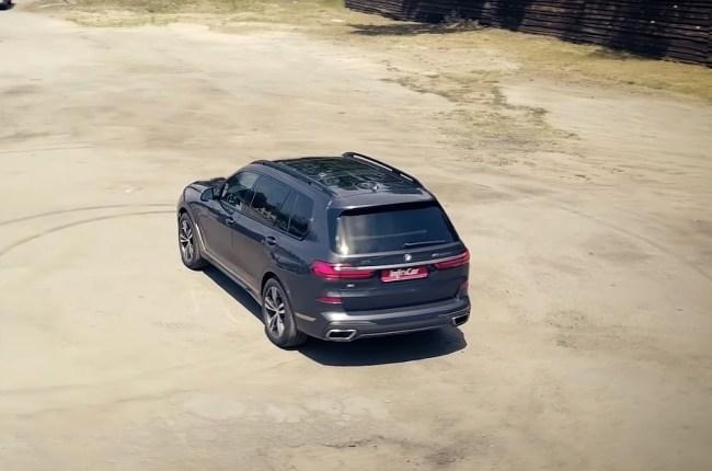 BMW Х7 вид сверху