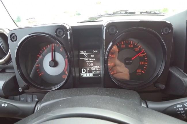 Suzuki Jimny расход топлива при скорости 130
