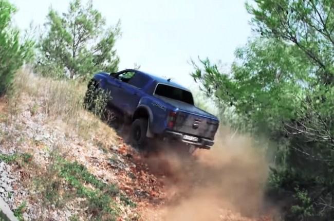 Ford Ranger Raptor на бездорожье