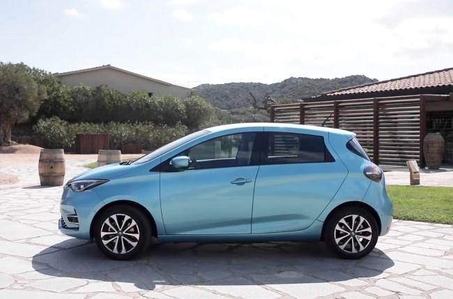 Renault ZOE вид сбоку