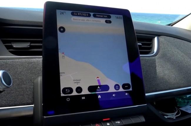 Renault ZOE дисплей мультимедиа