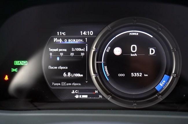 Lexus UX приборная панель