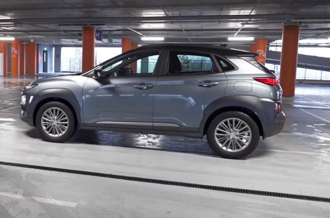 Hyundai Kona вид сбоку