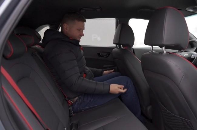 Hyundai Kona задний ряд сидений