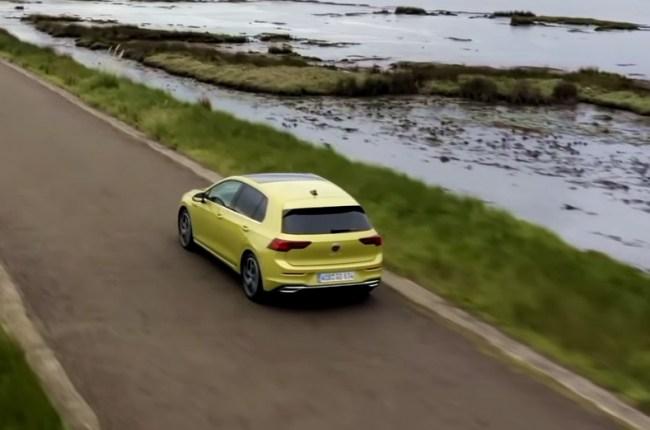 VW Golf 8 вид сверху