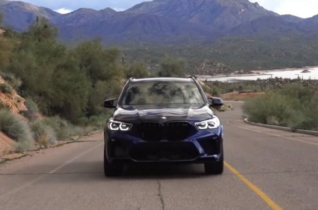 BMW X5 M 2019 год вид спереди
