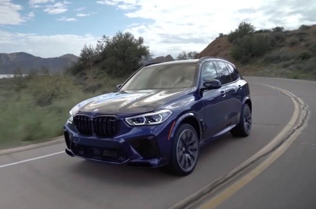 BMW X5 M поведения на дороге