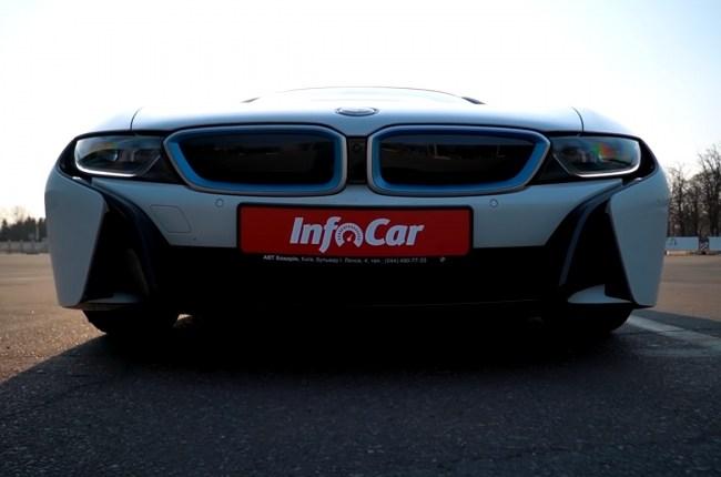 BMW i8 передний бампер и фары