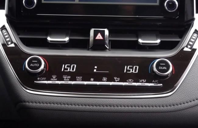 Toyota Corolla кнопки климат-контроля