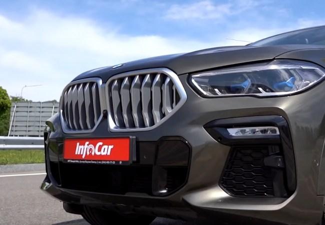 BMW X6 фары и бампер