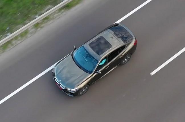 BMW X6 вид сверху