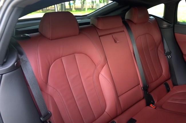 BMW X6 задний ряд сидений