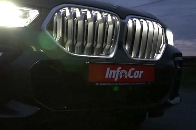 BMW X6 подсветка решетки радиатора