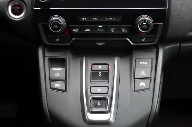 Honda CR-V Hybrid кнопки переключения АКПП