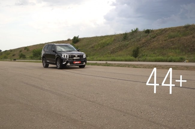 KIA Mohave тормозной путь со 100 км/ч