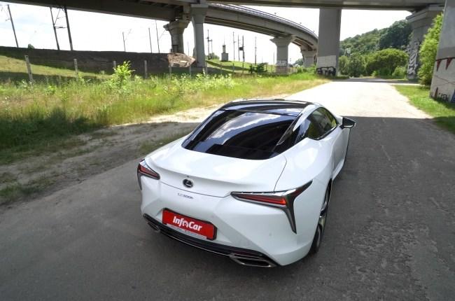 Lexus LC 500h вид сзади