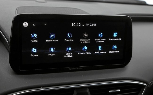 Hyundai Santa Fe: он паркуется с кнопки! И детей баюкает!. Hyundai Santa Fe